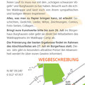 Flyer für das Waldrappteam