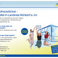 Landratsamt Mühldorf am Inn, Jugendfreizeitticket Grossflächenplakat, Juni 2021