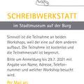 Flyer. Stadtbücherei Burghausen, Juni 2021
