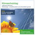 Klimaschutztag 2019, Landratsamt Mühldorf a. Inn, Flyer vierseitig, September 2019