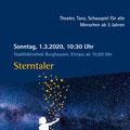 Plakat Sterntaler, Stadtbibliothek Burghausen, Februar 2020