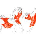 踊ル人 ダンサーの手描きイラスト
