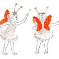 妖精さん ダンサーの手描きイラスト
