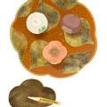 秋の生菓子 和の食べ物イラスト