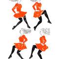 アイリッシュダンス ダンサーの手描きイラスト
