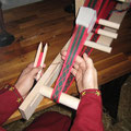 die erste Borte entsteht mit 24 Brettchen