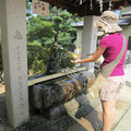 Purifying in Isaniwa Shrine