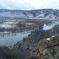 Blick vom Voglbergsteig auf die Donau
