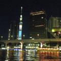 2012-08 吾妻橋フェスト 橋脚ライトアップ  / 隅田川
