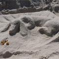 сделано мною из песка на пляже Паланги