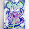 突然変異したキャラクター2 ジェッソ・アクリル・キャンバス 鈴木匠子 The character who mutated #2 Gesso and acrylic on canvas H333×w242×D20mm Shoko Suzuki 2018