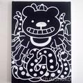 突然変異したキャラクター14 ジェッソ・キャンバス 鈴木匠子 The character who mutated #14 Gesso on canvas H333×w242×D20mm Shoko Suzuki 2018
