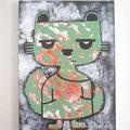 突然変異したキャラクター11 ジェッソ・アクリル・キャンバス 鈴木匠子 The character who mutated #11 Gesso and acrylic on canvas H333×w242×D20mm Shoko Suzuki 2018