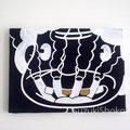 突然変異したキャラクター20 ジェッソ・アクリル・キャンバス 鈴木匠子 The character who mutated #20 Gesso and acrylic on canvas H242×w333×D20mm Shoko Suzuki 2018