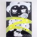 突然変異したキャラクター12 ジェッソ・キャンバス 鈴木匠子 The character who mutated #12 Gesso on canvas H333×w242×D20mm Shoko Suzuki 2018