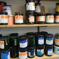 Eine Farbauswahl in unserer Werkstatt.