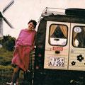 Mit der Ente in der Bretagne (erstes Auto mit erster Freundin)