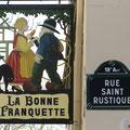 Montmartre altes Schild