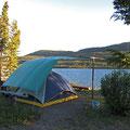 Unsere erste Nacht in Kanada - Fox-Lake. Danke an Mike für diesen grandiosen Campground.