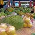 Sir-Selwyn-Clarke-Markt in Victoria. Hier gibt es frisches Gemüse und Obst