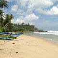 Einsamer Strand an der Südküste bei Tangalle.