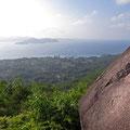 Aussicht vom Nid d'Aigle, dem höchsten Berg La Digues