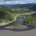 Zusammenfluss von Yukon und Klondike