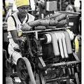 Motiv: Arbeiterin in Cigarrenfabrik, Dom. Rep. / Foto und Bearbeitung: Christian Schmid