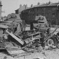 Die deutschen Soldaten hinterlassen eine zerstörte Stadt Lille