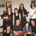 テュイレの木管六重奏を共演した仲間とフランクと一緒に