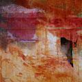 TITRE- Mythologie des Ocres II (toile sur chassis 60 x 60cm) Prix 690 €