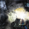 TITRE-Débris mécaniques IV Toile (73 x 92 cm ) PRIX 1.200 €