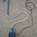 給水管セットとポンプ