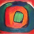 Mittelpunkt 1999 , 30 x 24 cm , Öl und Acryl