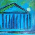römische Nacht Impression , 2004 , 40 x 30 cm , Öl und Acryl