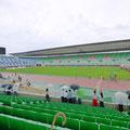 大学時代の友人が出場する陸上競技会の応援。大阪・長居陸上競技場。
