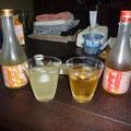 和歌山らしいことを。梅酒を飲み比べ。