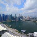 シンガポール市内を一望。高すぎ。