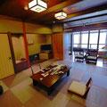 和歌山。ホテル三楽荘。琉球畳がステキでした。