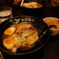 北海道あおばラーメン、豚とろラーメンは絶品。無言でかきこんで食べたなぁ。@Singapore