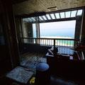 和歌山。ホテル三楽荘。客室露天風呂で朝から風呂。