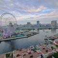 横浜。みなとみらい。ホテルより。