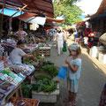 Auf dem Markt gibts für Siena immer viel zu entdecken!