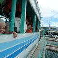 Mit der Banca gehts von Caticlan nach Boracay