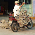 Transport von Laternengehäusen