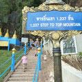 Der Aufstieg zum hochgelegenen Teil des Tempels