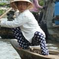 Die Boote werden vielmals von Frauen bewegt