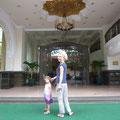 Vor der gepflegten Sherwood Residence in Saigon (Serviced Apartments)
