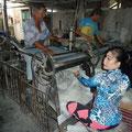 In der Reisnudelfabrik konnten wir den gesamten Herstellungsprozess auf kleinstem Raum beobachten