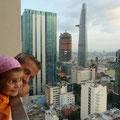 Mit einem grossartigen Blick nehmen wir Abschied von Saigon und Vietnam.